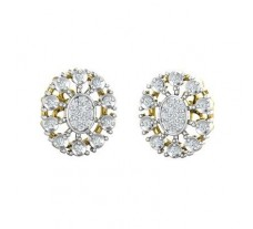 Natural Diamond Earrings 0.35 CT / 4.90 gm Gold