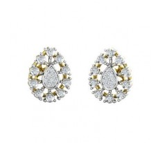 Natural Diamond Earrings 0.27 CT / 4.40 gm Gold
