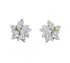 Natural Diamond Earrings 1.08 CT / 5.43 gm Gold