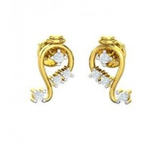 Natural Diamond Earrings 0.20 CT / 2.41 gm Gold