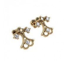 Natural Diamond Earrings 0.20 CT / 3.41 gm Gold