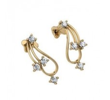 Natural Diamond Earrings 0.24 CT / 2.95 gm Gold