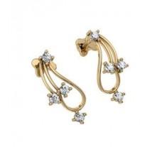 Natural Diamond Earrings 0.24 CT / 2.95 gm Gold