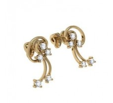Natural Diamond Earrings 0.20 CT / 3.71 gm Gold