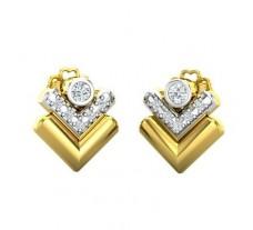 Natural Diamond Earrings 0.13 CT / 5.97 gm Gold