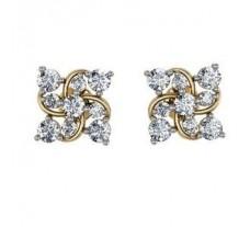 Diamond Earrings 1.24 CT /  6.95 gm Gold