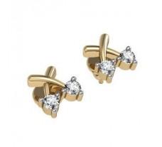 Diamond Earrings 0.14 CT / 3.72 gm GOLD