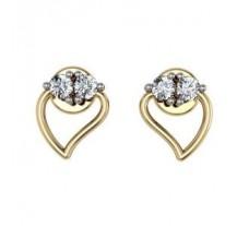 Diamond Earrings 0.12 CT / 3.13 gm GOLD