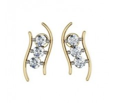 Diamond Earrings 0.18 CT / 3.26 gm Gold