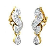 Natural Diamond Earrings 0.15 CT / 2.57 gm Gold