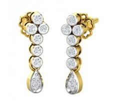 Natural Diamond Earrings 0.22 CT / 3.21 gm Gold