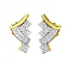 Natural Diamond Earrings 0.34 CT / 2.58 gm Gold