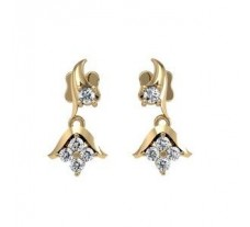 Natural Diamond Earrings  0.220 CT / 4.06 gm gold