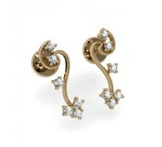 Diamond Earrings 0.18 CT / 3.16 gm Gold