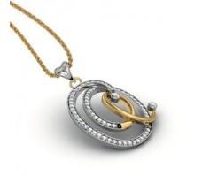 Natural Diamond Pendant 0.77 CT / 5.25 gm Gold
