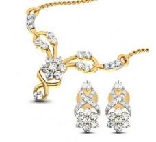 Natural Diamond Tanmaniya Set - 0.73 CT / 4.65 gm Gold