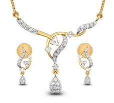 Natural Diamond Tanmaniya Set - 0.60 CT / 3.75 gm Gold
