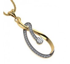 Natural Diamond Pendant 0.53 CT / 3.77 gm Gold