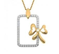 Natural Diamond Pendant 0.17 CT / 1.45 gm Gold