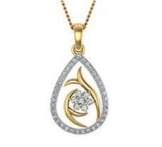 Natural Diamond Pendant 0.26 CT / 1.95 gm Gold