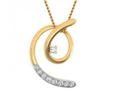 Natural Diamond Pendant 0.12 CT / 1.20 gm Gold