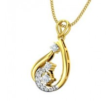 Natural Diamond Pendant 0.09 CT / 1.88 gm Gold