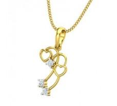 Diamond Heart Pendant 0.06 CT / 1.48 gm Gold
