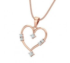 Natural Diamond Heart Pendant 0.12 CT / 1.85 gm Gold
