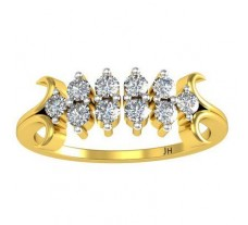 Natural Diamond Ring 0.30 CT / 2.19 gm Gold