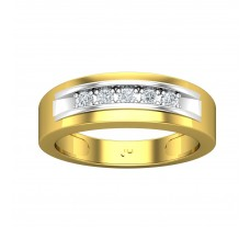 Natural Diamond Band for Men 0.26 CT / 5.95 gm Gold