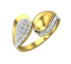 Diamond Designer Ring 0.42 CT / 2.99 gm Gold