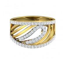 Natural Diamond Designer Ring 0.44 CT / 5.01 gm Gold