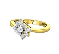 Natural Diamond Ring 0.22 CT / 2.41 gm Gold