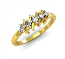 Natural Diamond Designer Ring 0.15 CT / 2.72 gm Gold