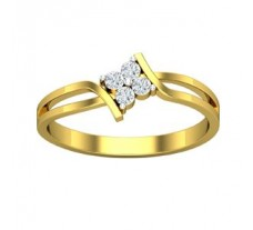 Natural Designer Diamond Ring 0.12 CT / 2.11 gm GOLD