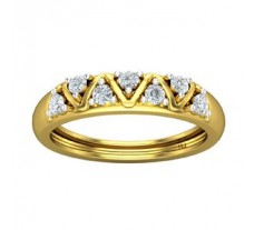 Natural Diamond Ring for Men 0.42 CT / 4.35 gm Gold