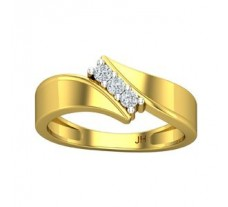 Natural Diamond Ring for Men 0.18 CT / 4.96 gm Gold