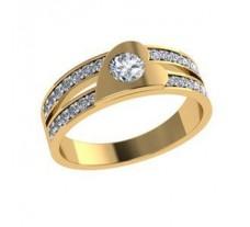 Diamond Designer Ring 0.33 CT / 3.34 gm Gold