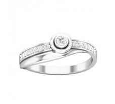 Natural Diamond Ring 0.21 CT / 2.35 gm Gold