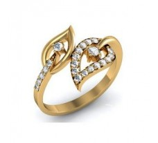 Natural Diamond Designer Ring 0.23 CT / 2.25 gm Gold