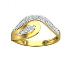 Natural Diamond Designer Ring 0.19 CT / 2.25 gm Gold