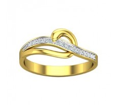 Natural Diamond Designer Ring 0.12 CT / 2 gm Gold