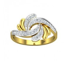 Natural Diamond Designer Ring 0.26 CT / 3.05 gm Gold