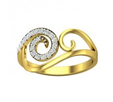 Diamond Designer Ring 0.15 CT / 1.95 gm Gold