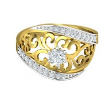 Natural Diamond Designer Ring 0.45 CT / 3.81 gm Gold