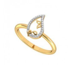 Natural Diamond Ring 0.07 CT / 2.35 gm Gold