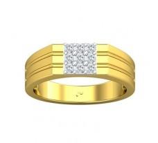 Natural Diamond Ring for Men 0.36 CT / 6.75 gm Gold