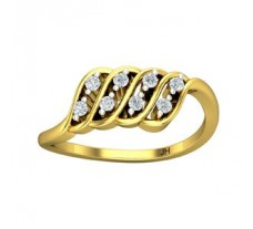 Natural Diamond Ring 0.16 CT / 2.77 gm Gold