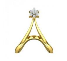 Natural Diamond Ring 0.15 CT / 3.47 gm Gold