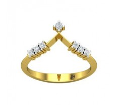 Natural Diamond Ring 0.15 CT / 2.12 gm Gold